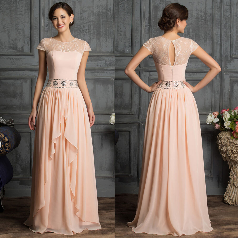 Bride Mother Dress: Stock Cap Sleeve ELEGANT Mother Of The Bride Dress Gown