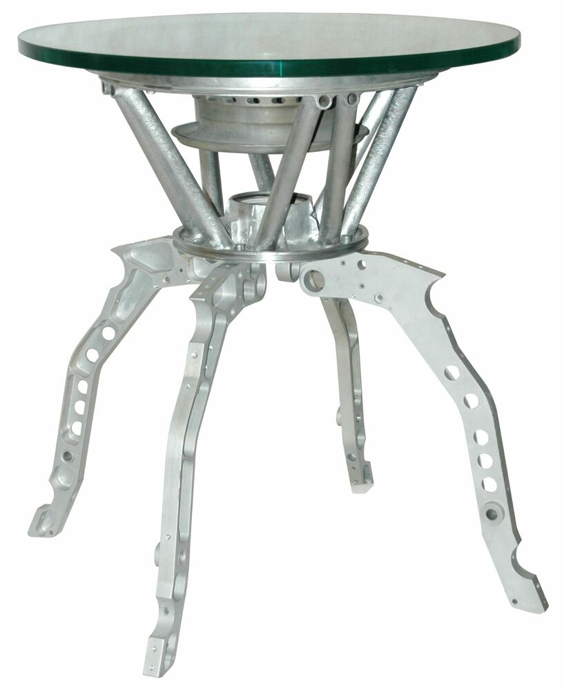 Designer Coffee Table With Genuine Aircraft Parts