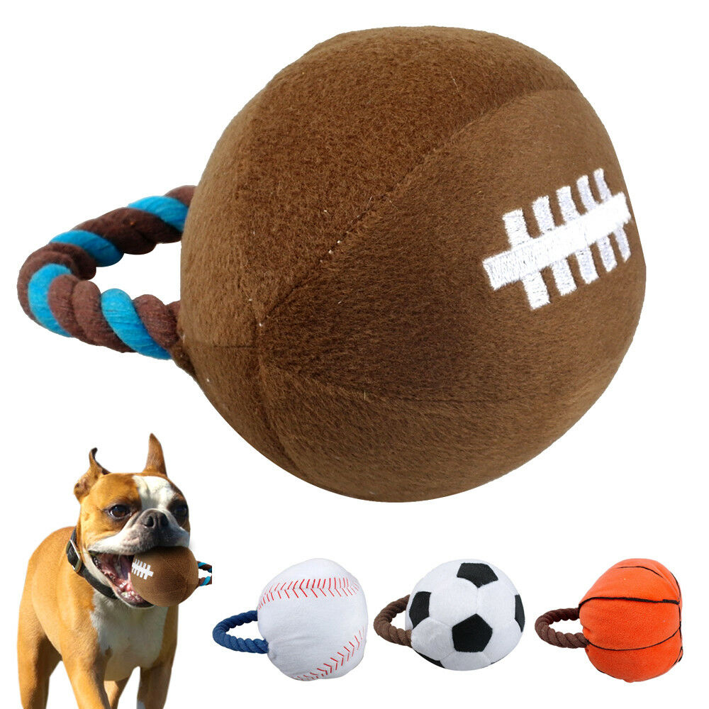 Dog Toys Balls : Didog interactive sports plush ball squeaker dog toys for