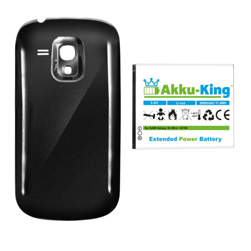 akku king 3000mah power accu f r samsung galaxy s3 mini gt. Black Bedroom Furniture Sets. Home Design Ideas