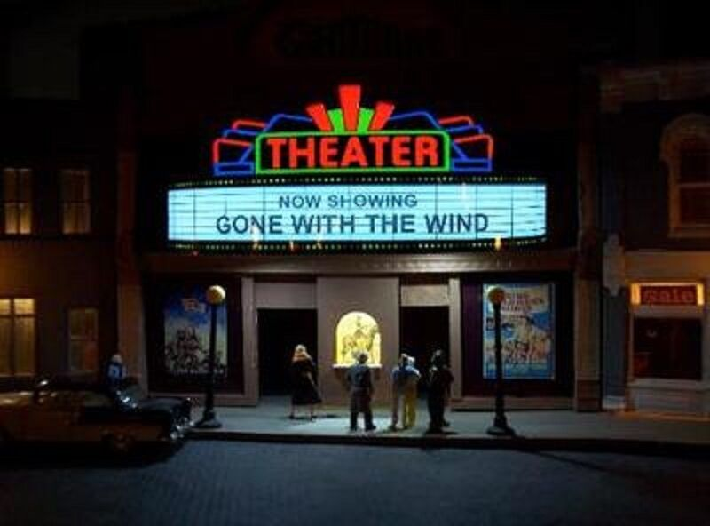 Theater Marquee Animated Billboard Sign #1181 HO/O Scale ...