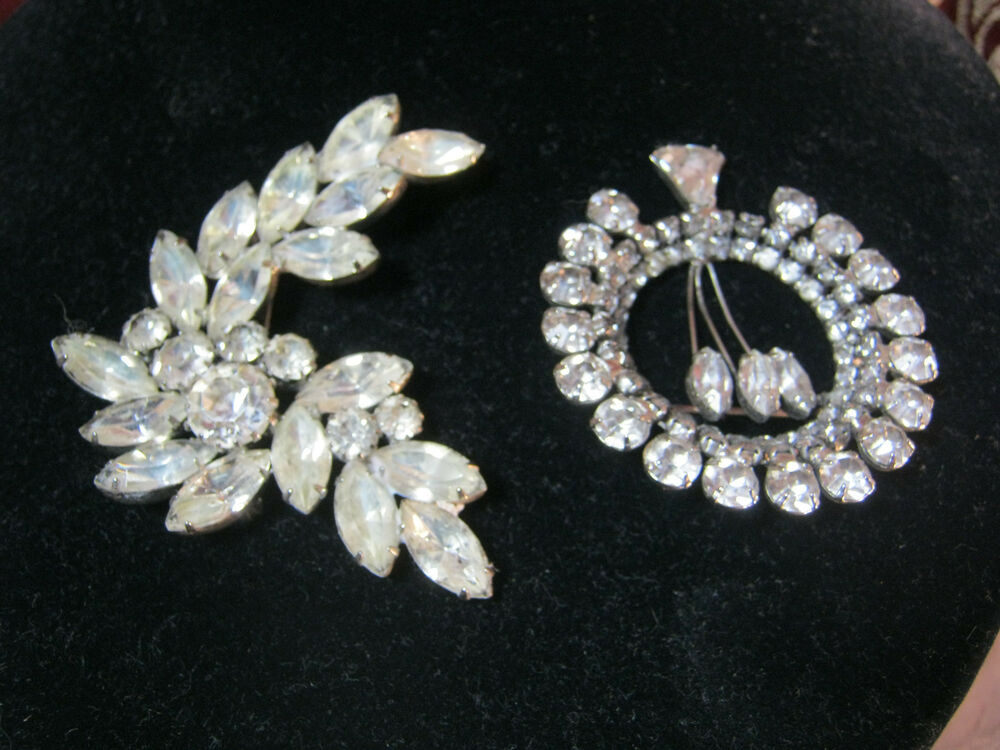 Art Deco Vintage Rhinestone Pins Brooch Costume Jewelry Ebay