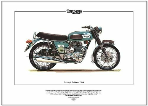 Triumph Trident T150 Motor Cycle Art Print Roadster Ebay