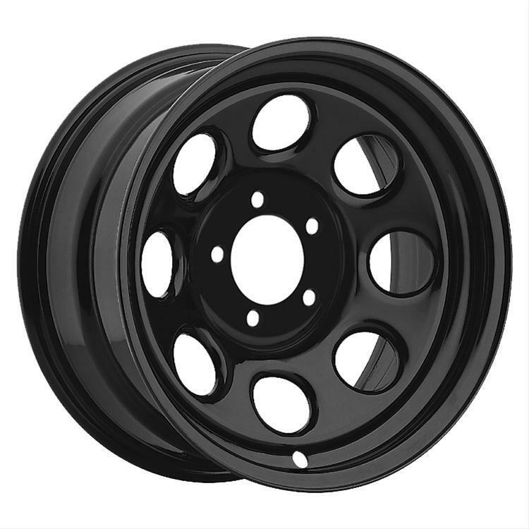 cragar soft 8 black steel wheels 17 x9 5x4 5 bc set of 4 ebay. Black Bedroom Furniture Sets. Home Design Ideas