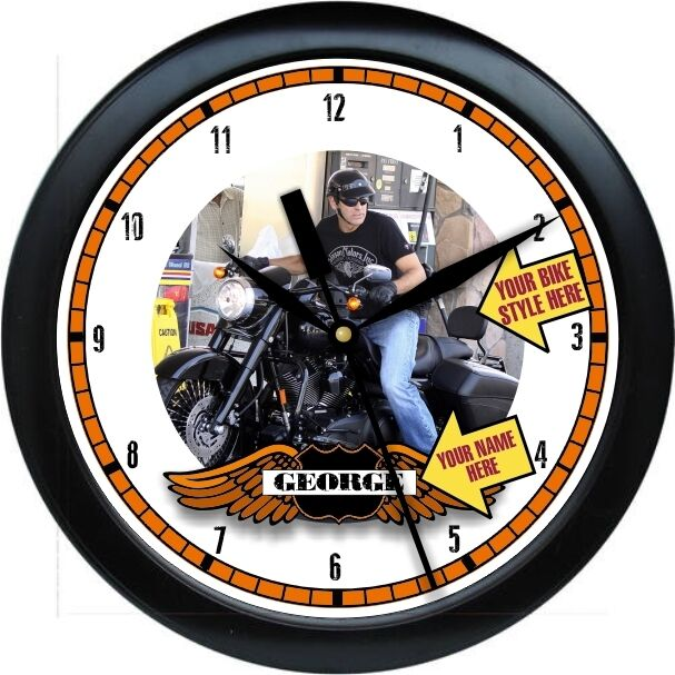Personalized Your Custom Photograph Harley Wall Clock Gift ...