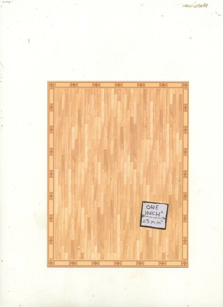 half scale faux parquet floor sheet 1 24 scale 24030. Black Bedroom Furniture Sets. Home Design Ideas