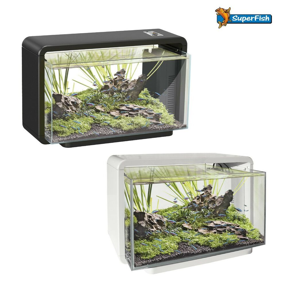 superfish home 15l 25 l 40 l led komplett set nano aquarium ebay. Black Bedroom Furniture Sets. Home Design Ideas