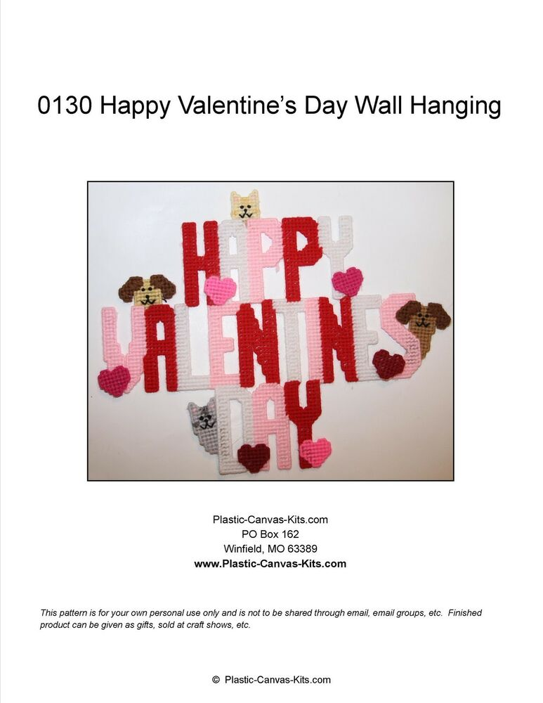 Happy Valentine's Day Wall Hanging-Dogs and Cats-Plastic ...