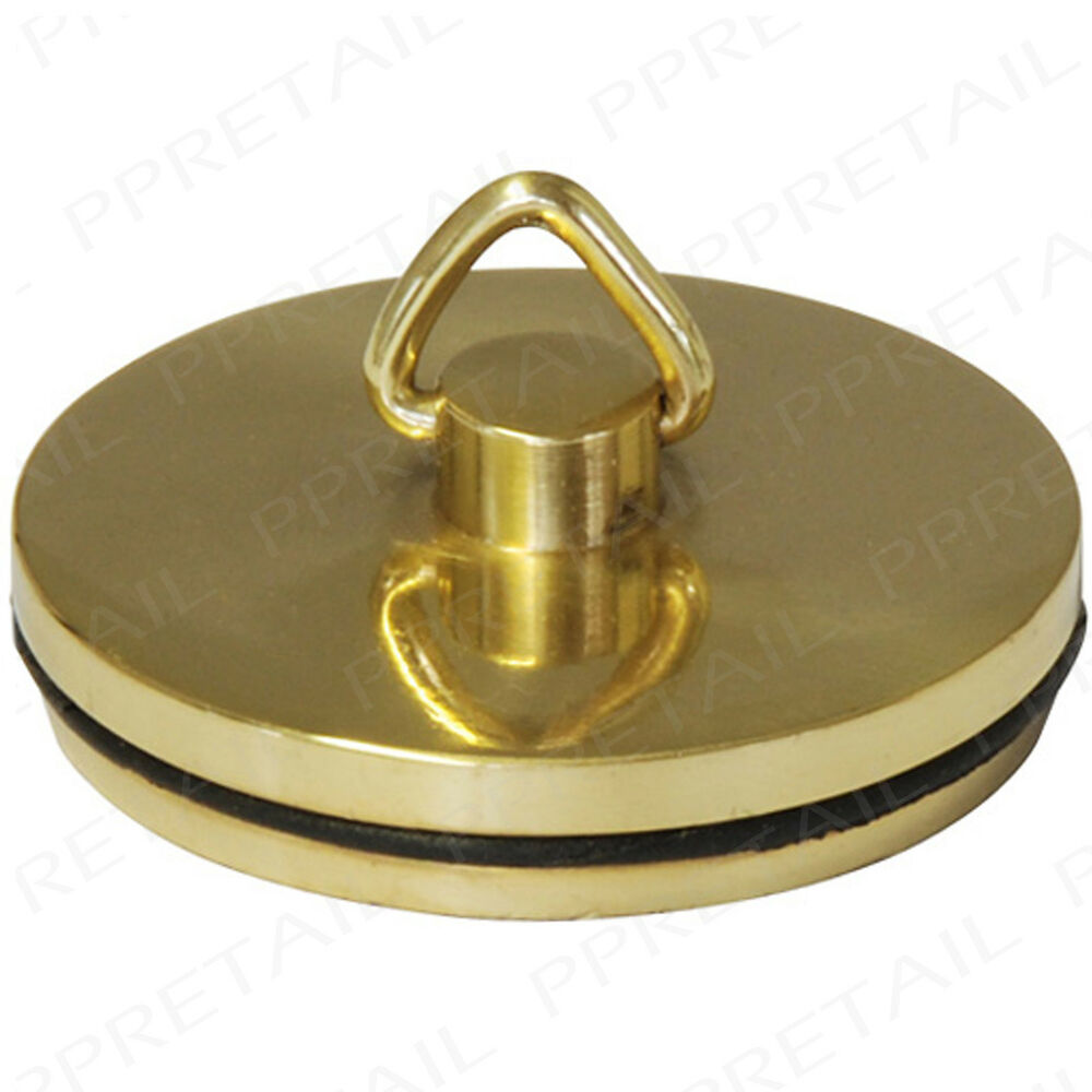 Replacement brass sink plug 38mm gold basin bathroom - Kitchen sink plug ...