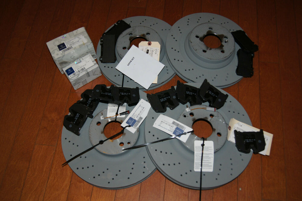 Mercedes Benz Brake Pads And Rotors >> Mercedes Benz E55 03 04 05 06 AMG Brake Front Rear Rotors & Pads Genuine | eBay