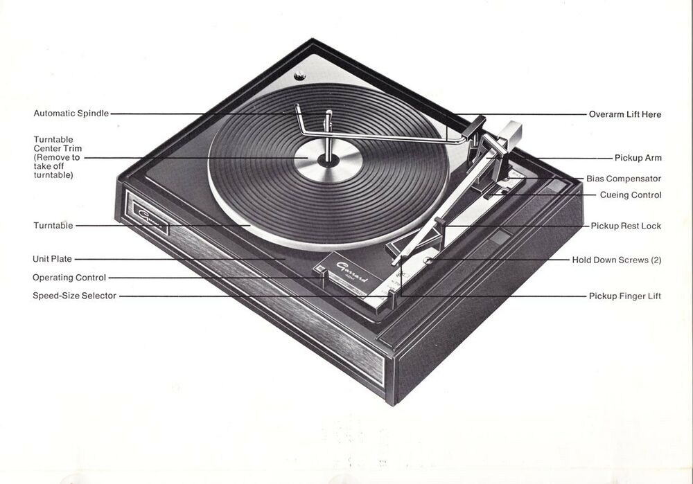 Garrard Exploded Diagram  U0026 Parts List For Model 42 Series Turntable