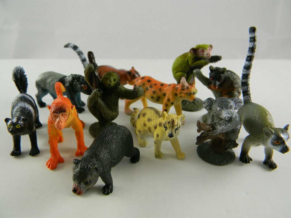 The Wild Toys : Toy plastic wild animals rain forest lot of