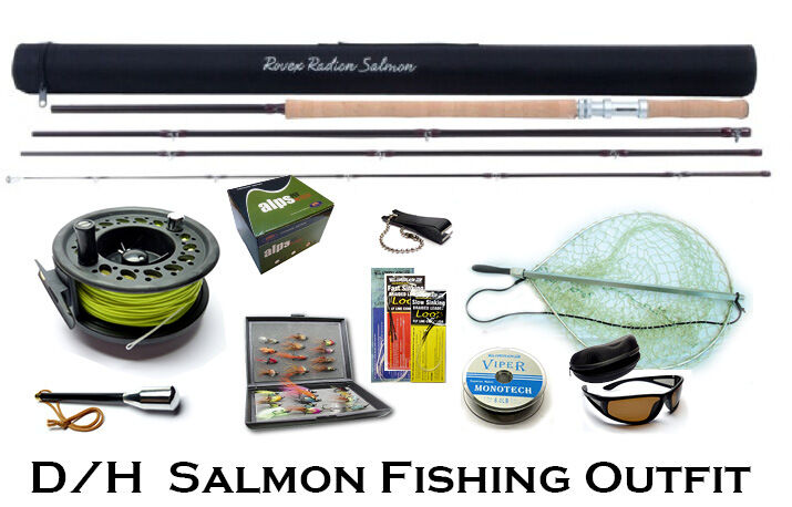 D h salmon spey fly fishing outfit ideal for salmon for Beginner fly fishing kit