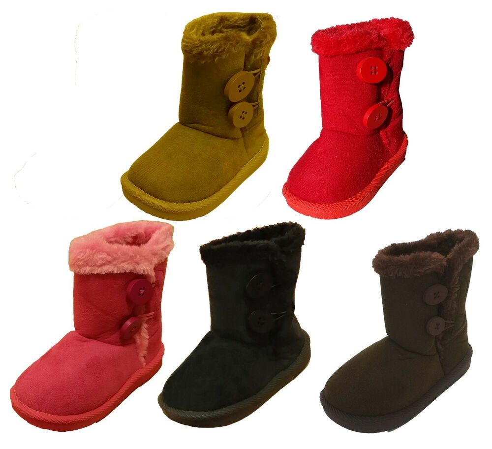 Infant Toddler Baby Girls' Cute Faux Suede Winter Boots