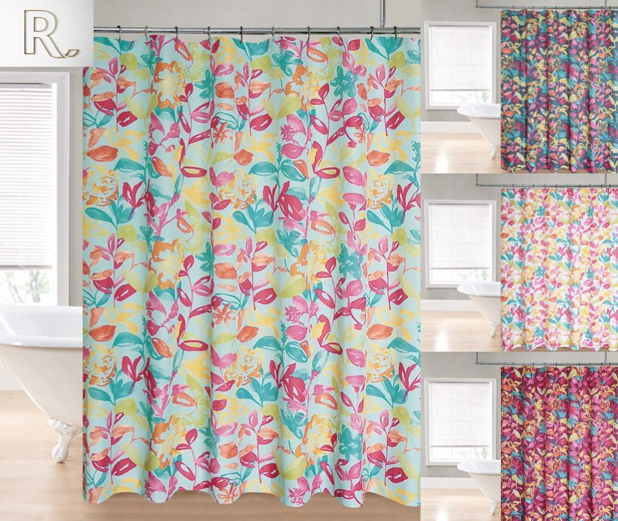 Watercolor Heavy Duty Fabric Shower Curtain By Goodgram Assorted Colors Ebay