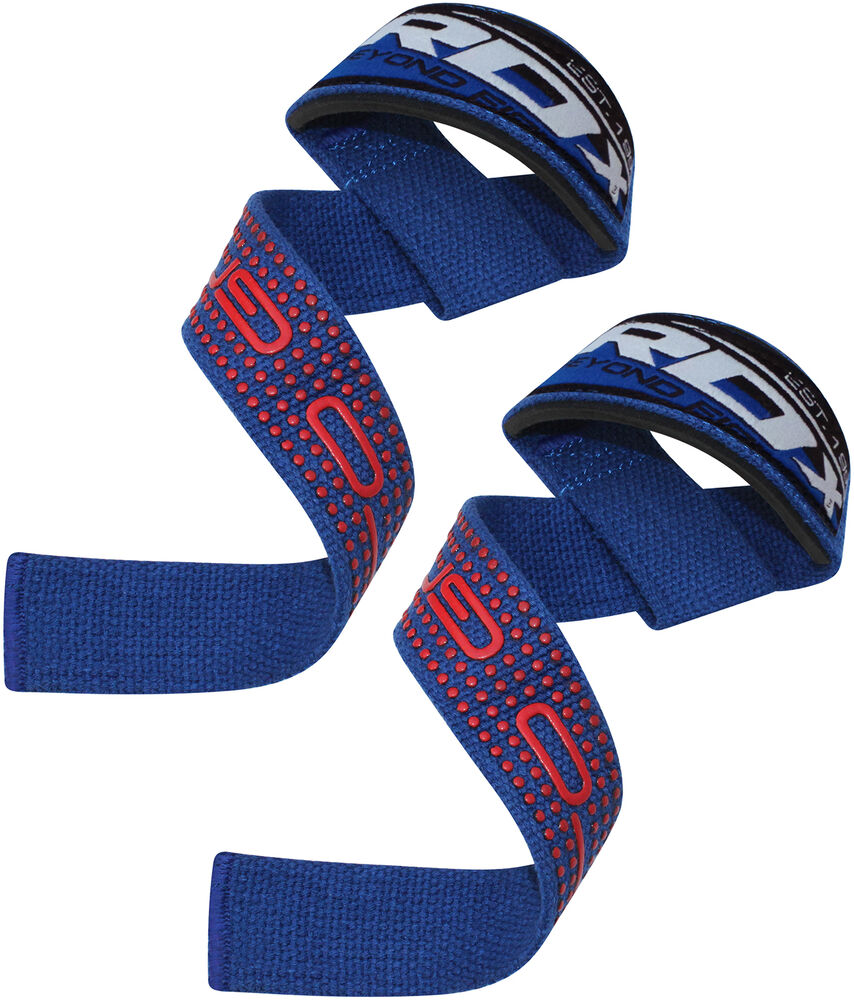 Rdx Leather Weight Lifting Grips Training Gym Straps: RDX Padded Weight Lifting Training Gym Straps Wrist