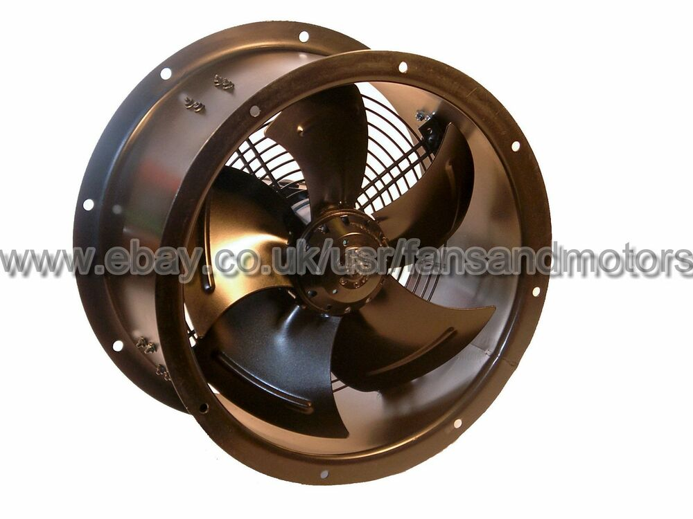 Industrial Axial Fans : Industrial duct fan cased axial commercial extractor