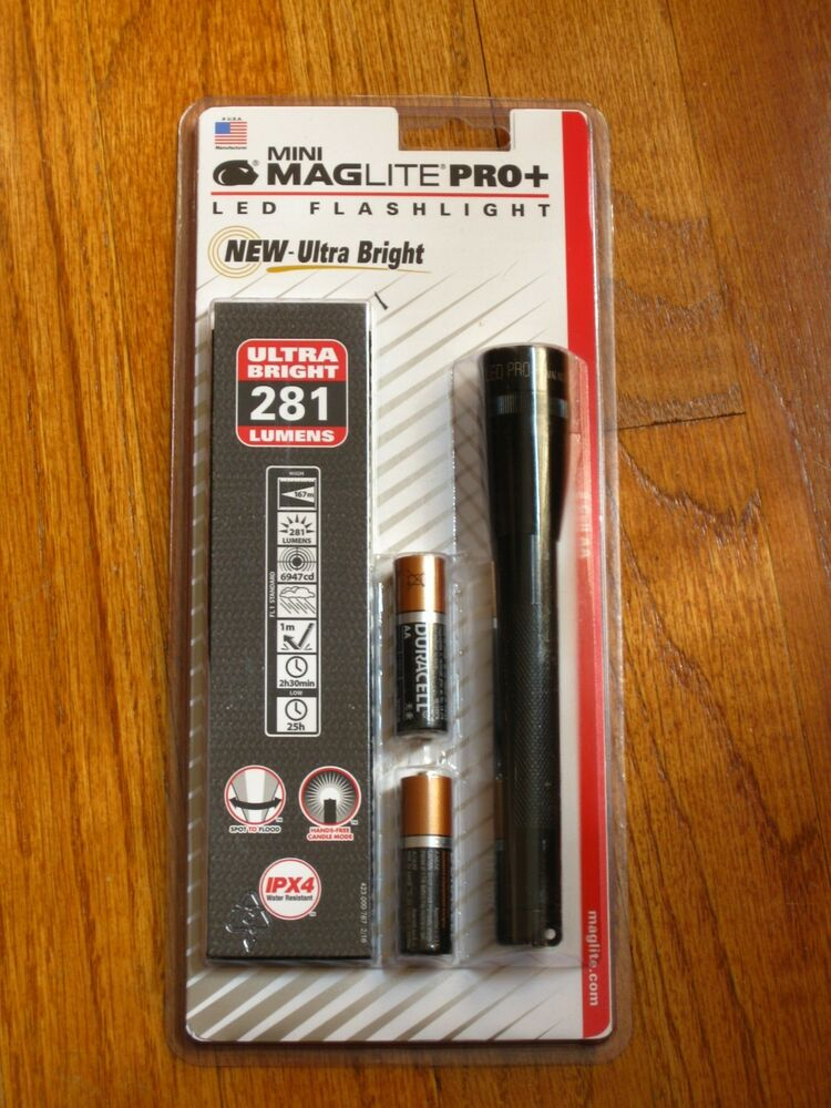 Maglite Pro Plus Led 2 Cell Aa Flashlight Black Mag Lite