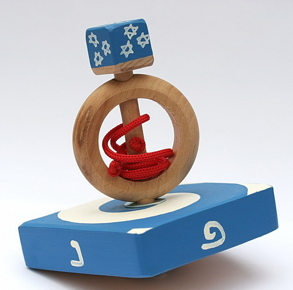 Star of David Turbo Spinning Hanukkah DREIDEL Top Game ...