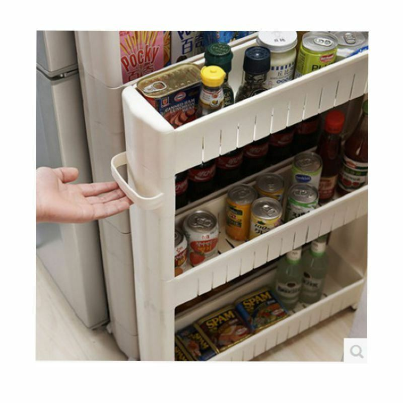 Slim slide out kitchen trolley rack holder storage shelf - Element de cuisine leroy merlin ...