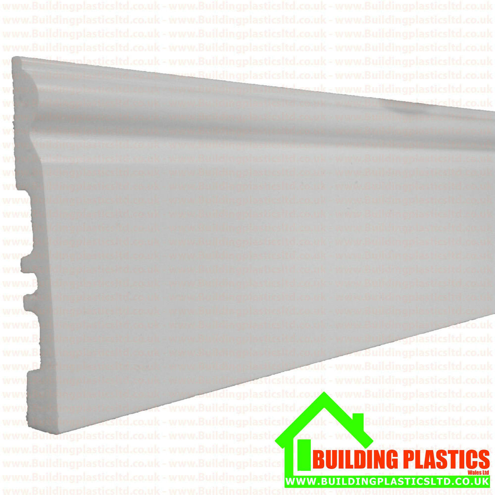 Pvc Skirting Board White Plastic 140mm X 2 9 Metres Long