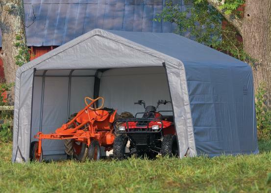 Metal Car Shelter 10x20 : Shelterlogic peak shelter portable garage steel