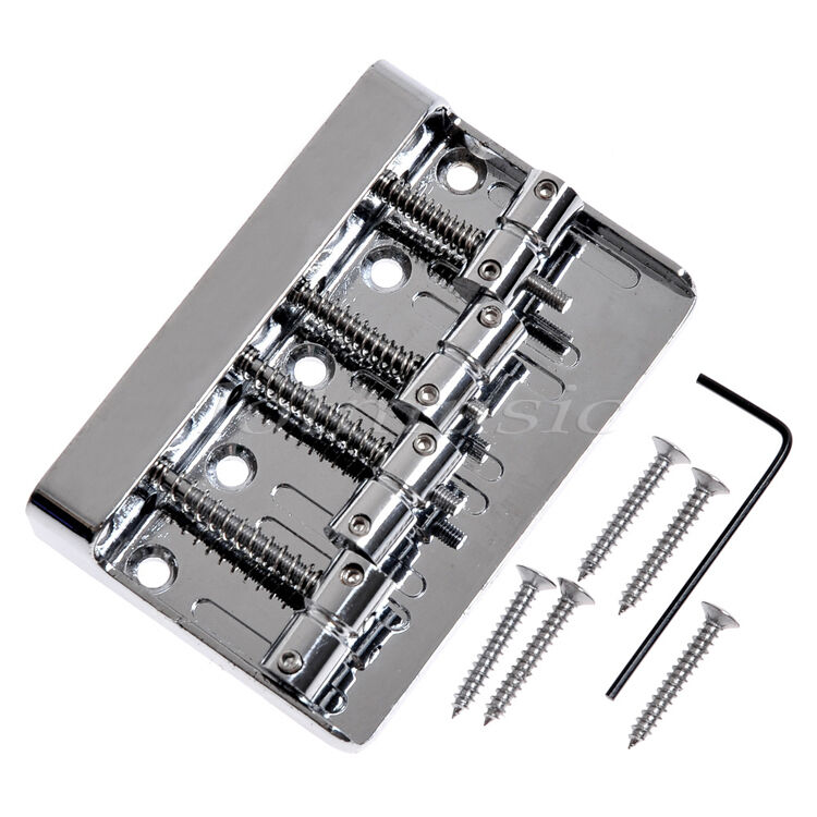 4 string vintage bass guitar bridge for squier fender precision jazz bass parts ebay. Black Bedroom Furniture Sets. Home Design Ideas