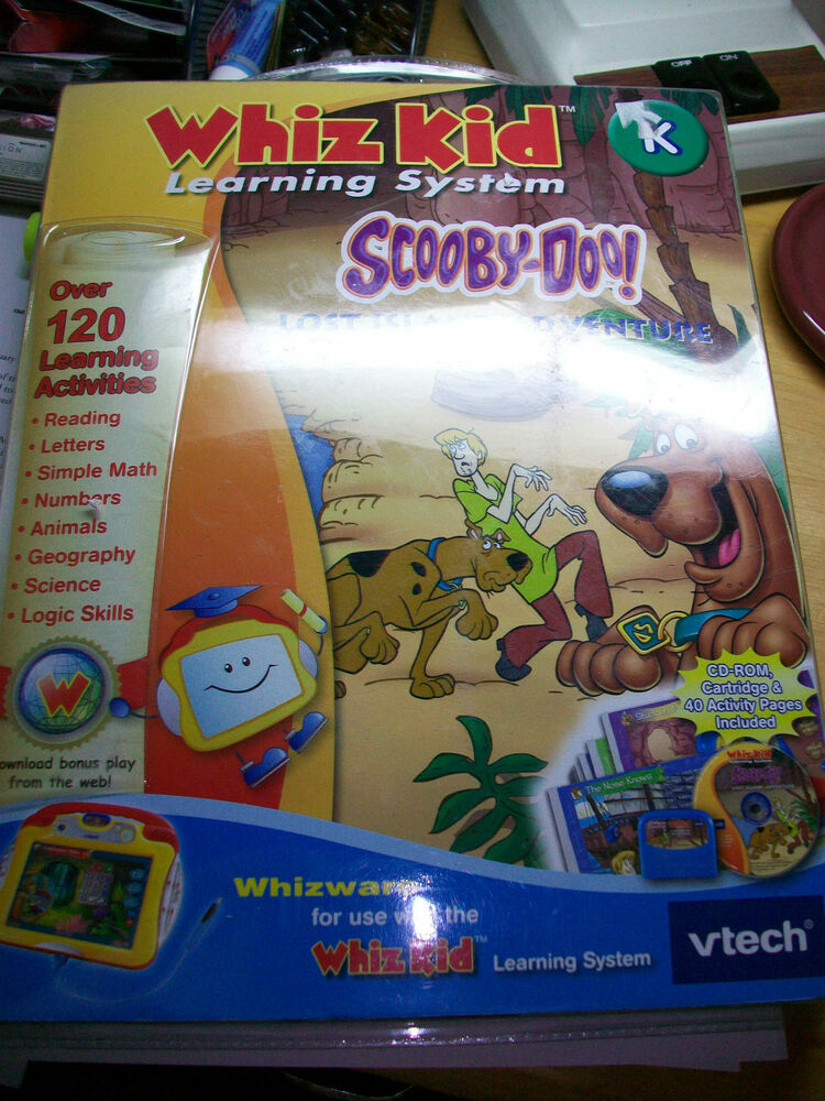New Vtech Whiz Kid Learning System Scooby Doo Lost Island ...