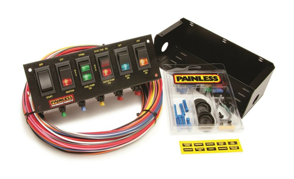 gm painless wiring diagram painless wiring diagram panel 6 painless wiring 50302 6-switch fused race car rocker ... #3