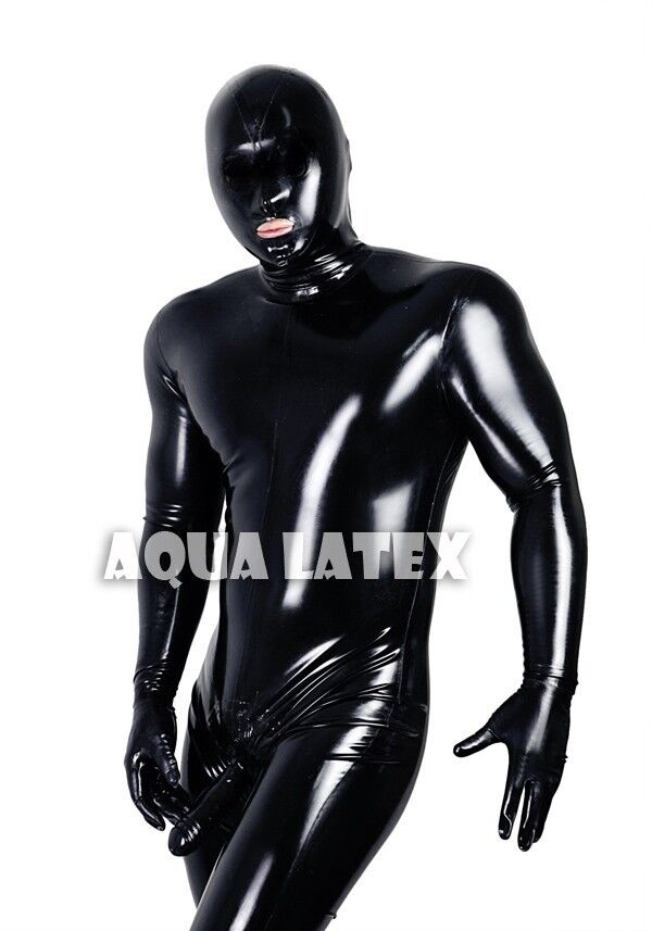 Latex and rubber suit