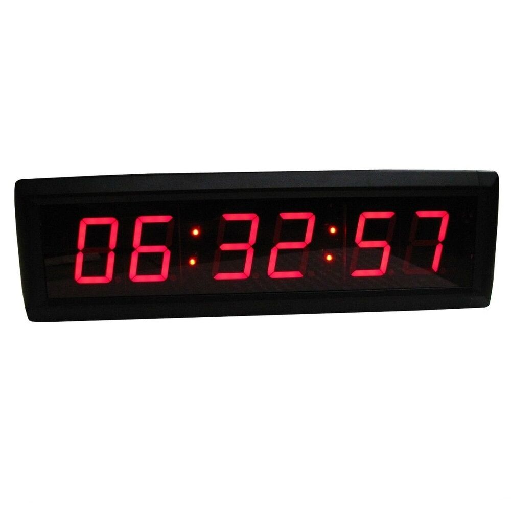 1 8 red led wall clock for home office led count down up