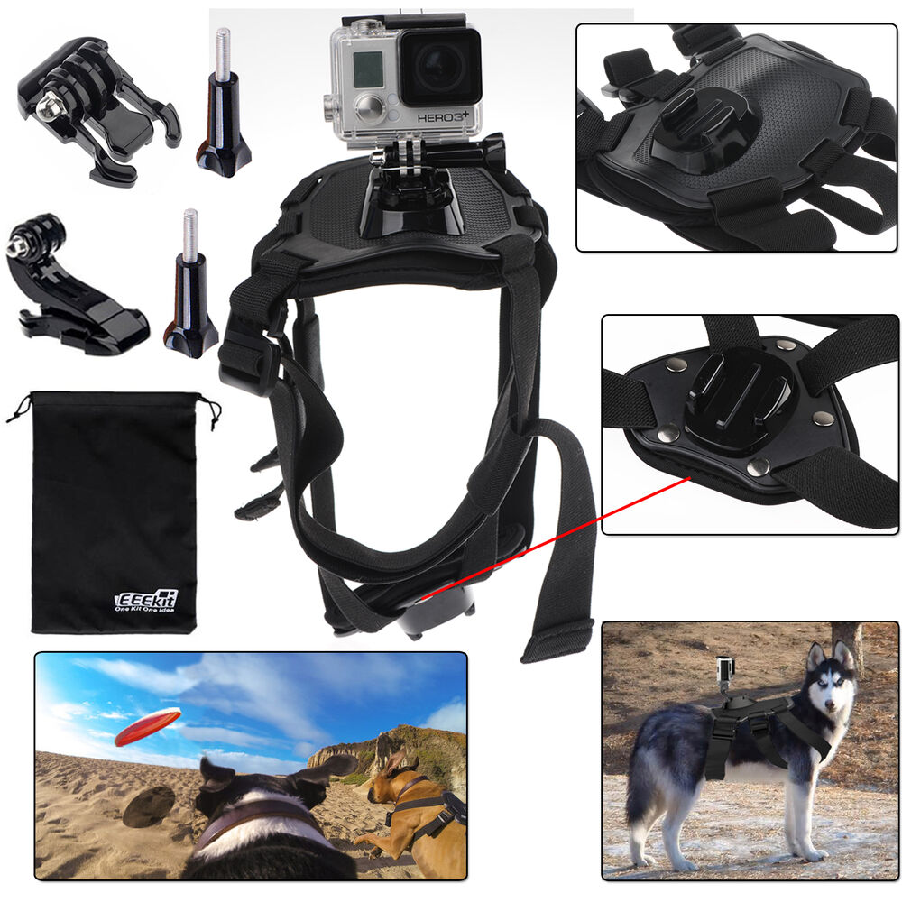 EEEKit Dog View Harness Chest Back Mount for GoPro Hero 5 4 Black Silver Session | eBay