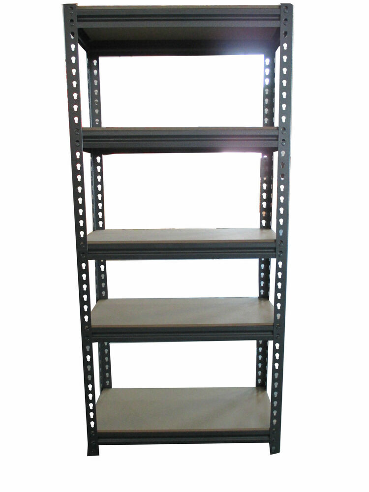5 tier heavy steel racking duty boltless storage shelves. Black Bedroom Furniture Sets. Home Design Ideas