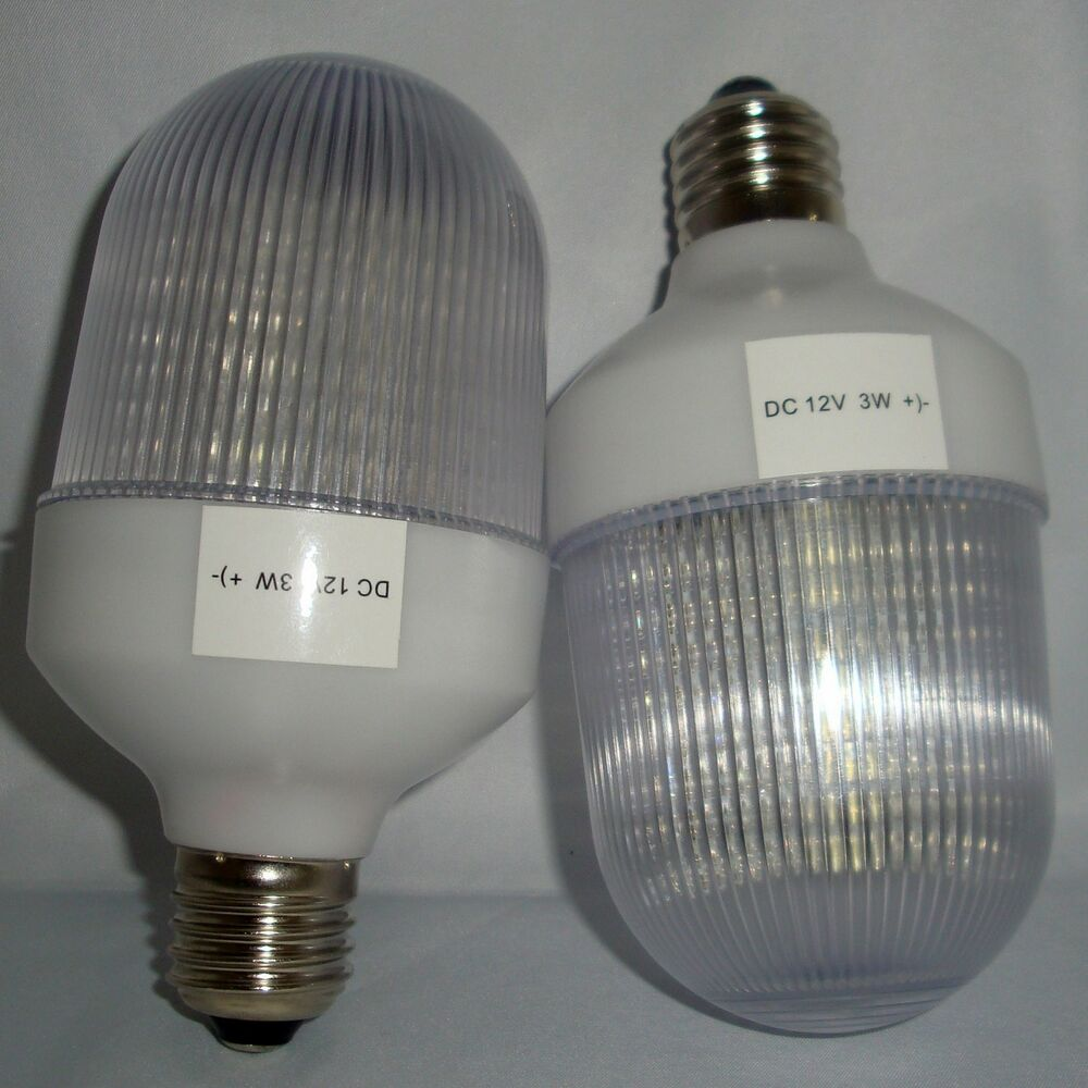 12 Volt Dc Led Light Fixtures: 2PK 12V 3W 36 LED E26 MEDIUM BASE INDOOR OUTDOOR LIGHT