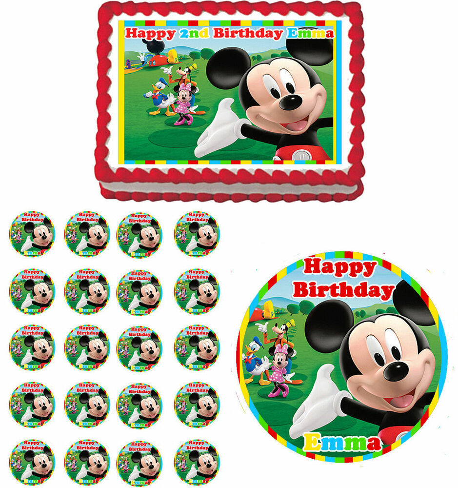 Birthday Cake Edible Pictures : Mickey Mouse Clubhouse Edible Birthday Party Cake Topper ...