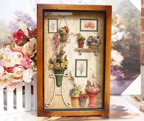 Wooden Box Wall Decor : Large flower pots wood key box home decor wall mount