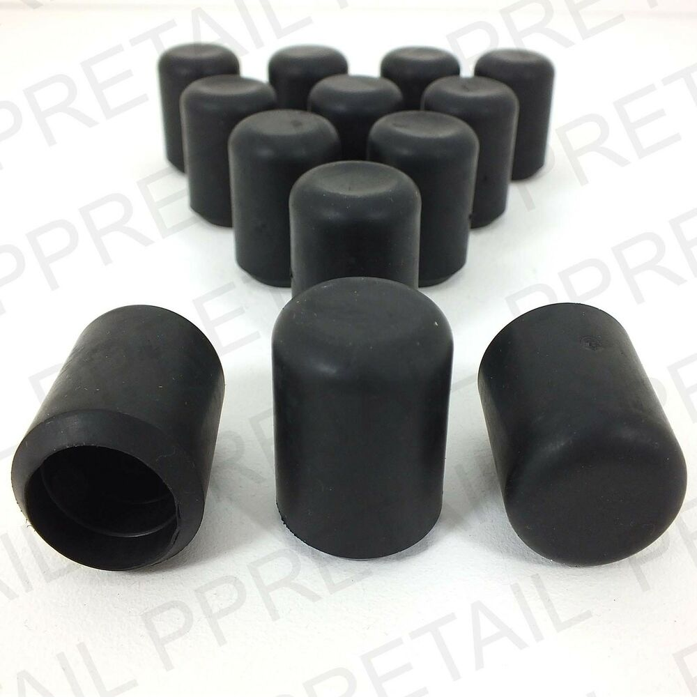 12 X BLACK STRAIGHT RUBBER FERRULE Large 22mm Chair Table Feet Leg Walking Ca