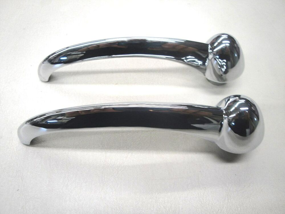 1950 50 ford car inside chrome door pull handle new ebay for 1950 door handles