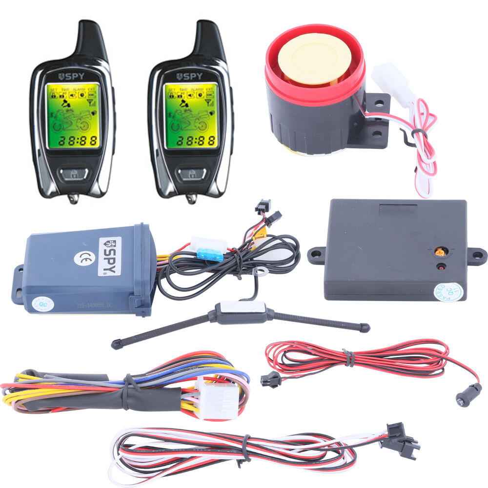 universal spy 5000m 2 way motorcycle alarm system remote. Black Bedroom Furniture Sets. Home Design Ideas