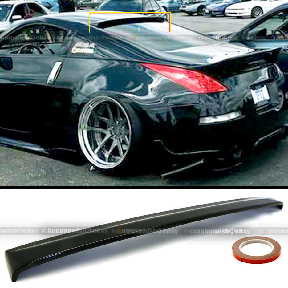 Details About Fit 03 08 350z Z33 Painted Glossy Black Roof Wing Spoiler Visor