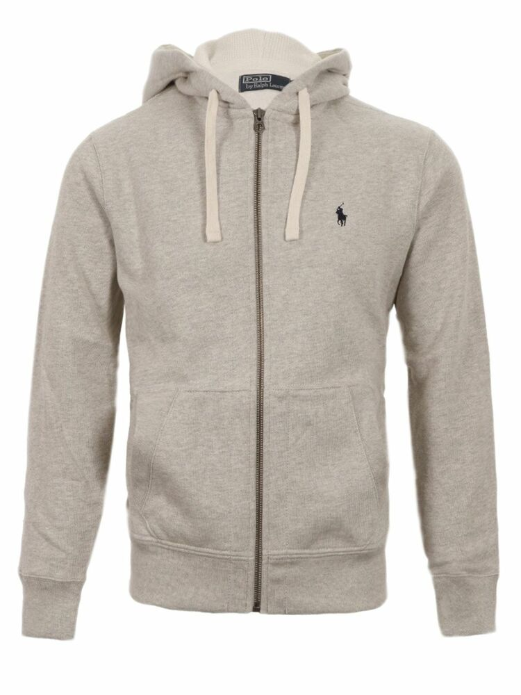 polo ralph lauren mens genuine new grey hoody hoodie zip. Black Bedroom Furniture Sets. Home Design Ideas