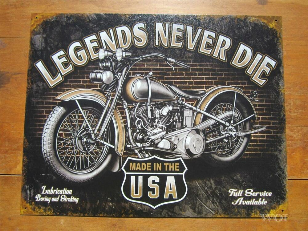 Classic vintage american motorcycle advertising metal wall for American classic usa