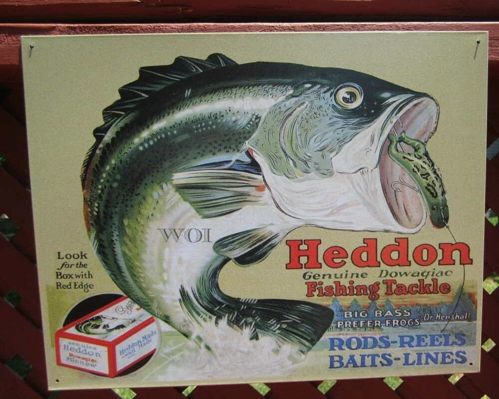 Heddon Fishing Tackle Rods Reel Big Mouth Bass Advertising