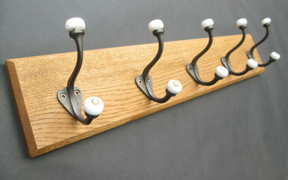 8 sizes solid english oak wooden hat and coat hooks for Picture hanging pegs