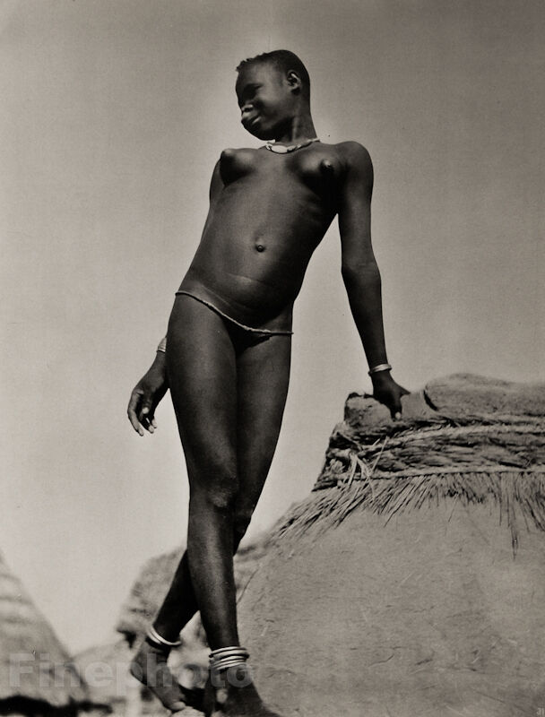 1952 Vintage Print Africa Ethnic Black Negro Tribal Female -2127