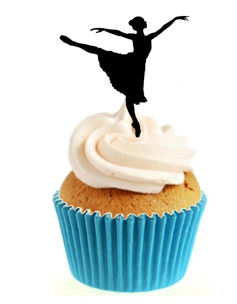 Novelty Dancing Ballerina Any Colour 12 Edible Stand Up