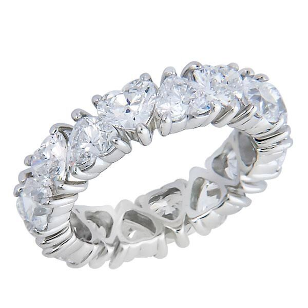 4 Ever Hartz 4 25ctw Heart Moissanite Eternity Ring 14k