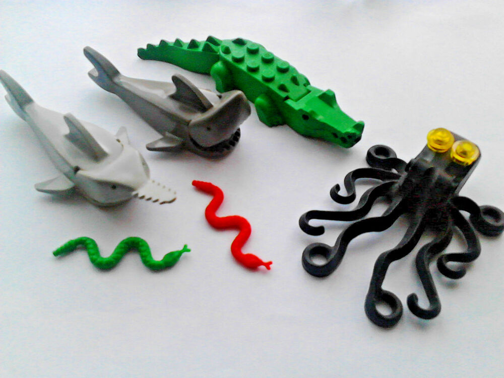 Lego Shark Toys For Boys : Lego shark crocodile sawfish octopus snakes set ebay
