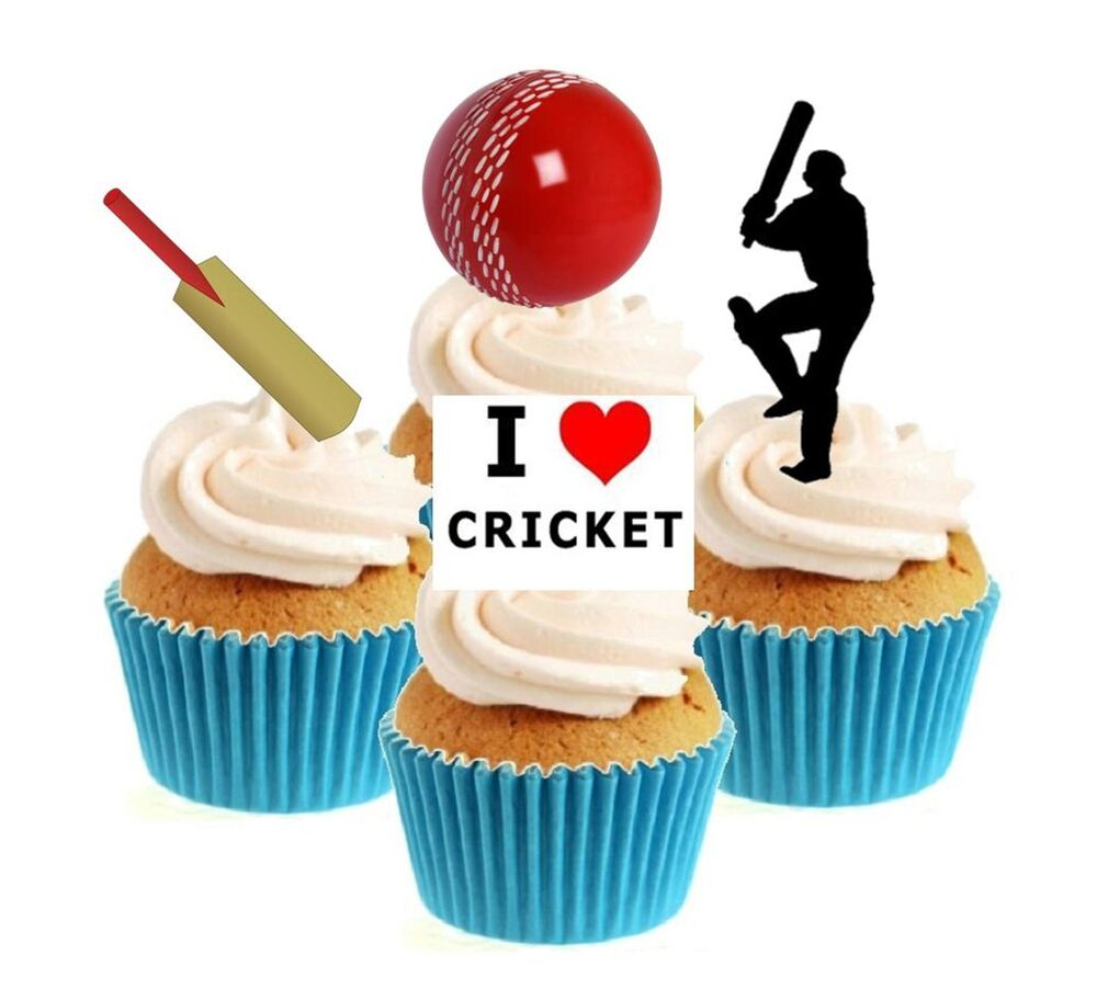 Edible Cricket Cake Decorations