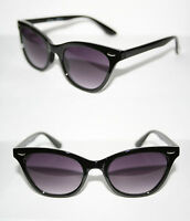 Wayfarer Cat Eye Vintage Sunglasses Black lens Reto Cateye Rockabilly 50's 440